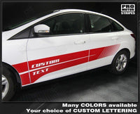 Ford Focus 2011-2018 Side Double Strobe Stripes
