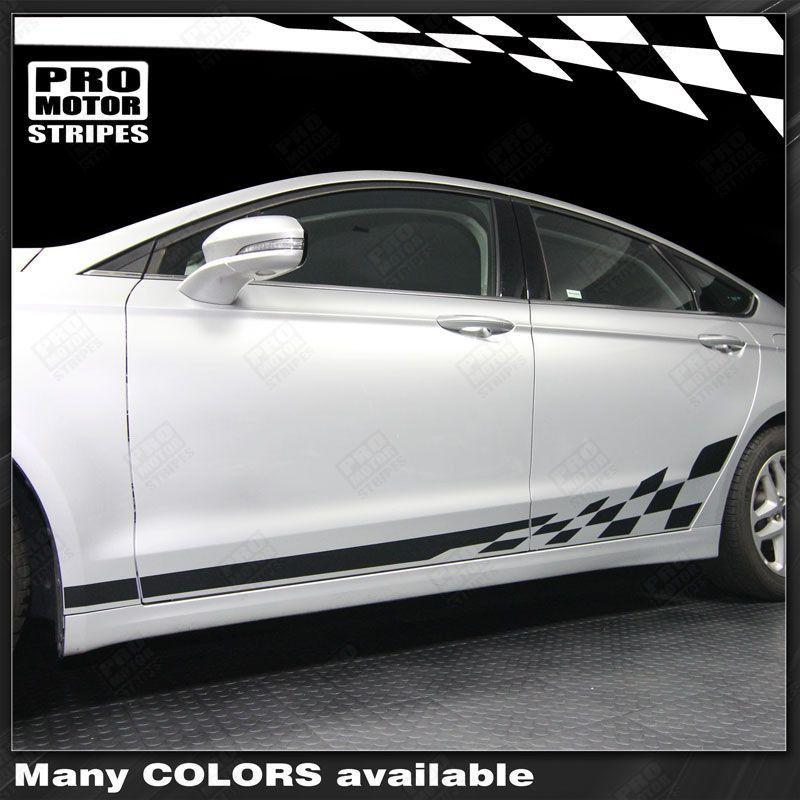 2013 2014 2015 2016 2017 2018 2019 Ford Fusion side  door  rocker panel Decals Stripes 132229428680-1