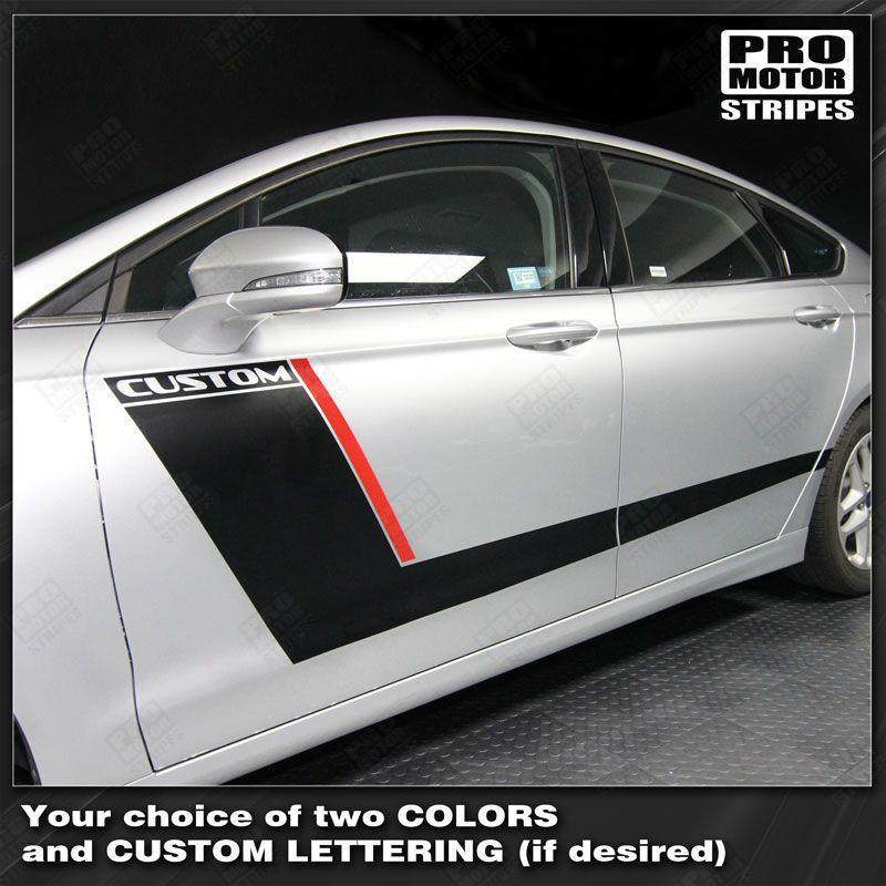 FORD FUSION 2013-2016 Door Accent Side Stripes Auto Decals - Pro Motor Stripes