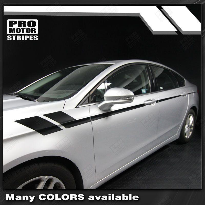 FORD FUSION 2013-2016 Double Hash Side Accent Stripes Auto Decals - Pro Motor Stripes