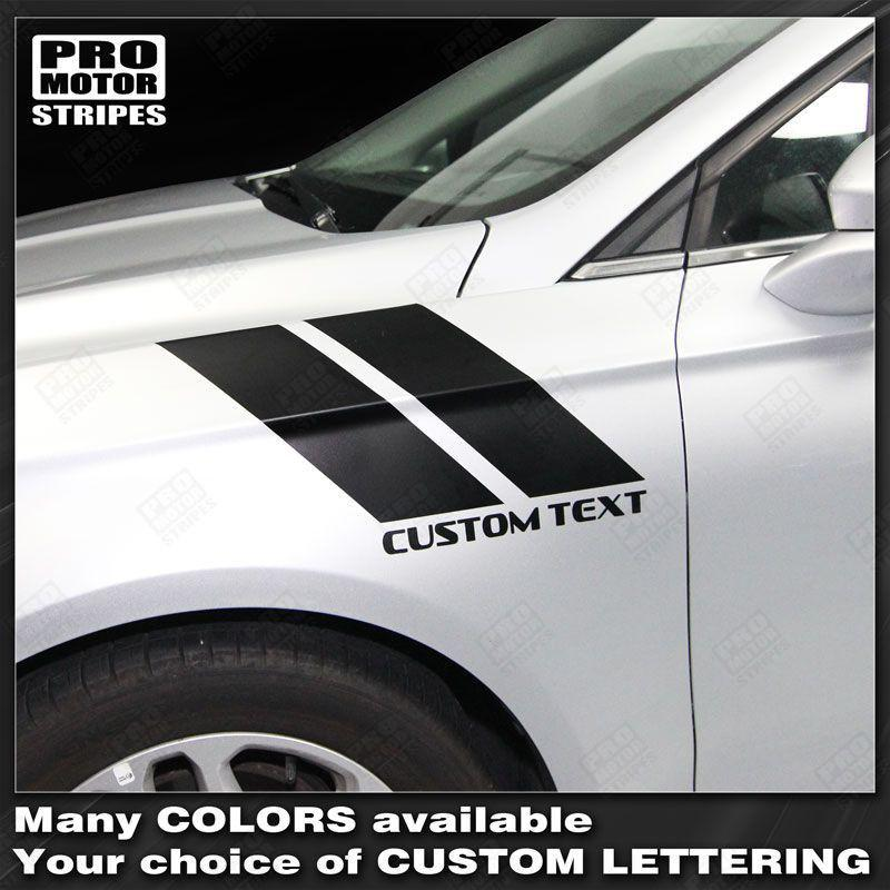 FORD FUSION 2013-2016 Fender Hash Accent Side Stripes Auto Decals - Pro Motor Stripes