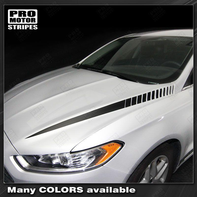 FORD FUSION 2013-2016 Hood Accent Side Spear Stripes Auto Decals - Pro Motor Stripes