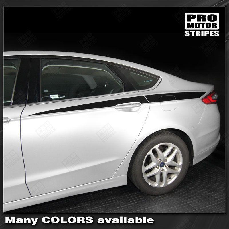 FORD FUSION 2013-2016 Rear Quarter Side Accent Stripes Auto Decals - Pro Motor Stripes