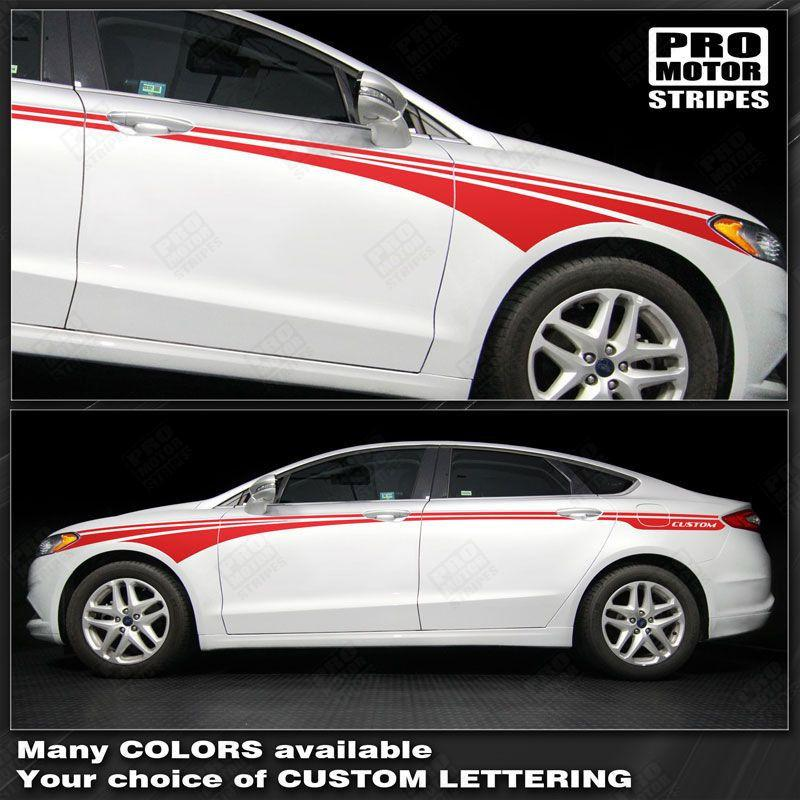 FORD FUSION 2013-2016 Sport Side Accent Stripes Auto Decals - Pro Motor Stripes