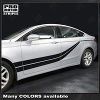 FORD FUSION 2013-2016 Top and Sides Double Stripes Set Auto Decals - Pro Motor Stripes