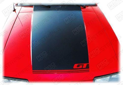 1985 1986 1987 1988 1989 1990 1991 1992 1993 Ford Mustang hood Decals Stripes 152588453953-1