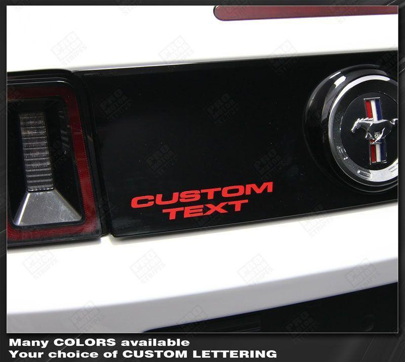 Ford Mustang Rear Deck Lettering Decal 2005 2006 2007 2008 2009 Pro Motor