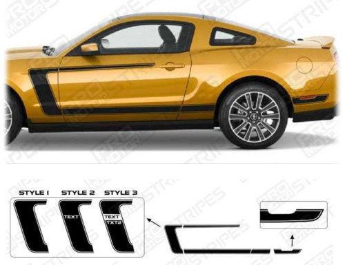 2005 2006 2007 2008 2009 Ford Mustang side  door  rocker panel Decals Stripes 122628920152-1