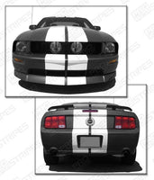 2005 2006 2007 2008 2009 Ford Mustang hood  trunk  bumper  roof Decals Stripes 152588443004-2