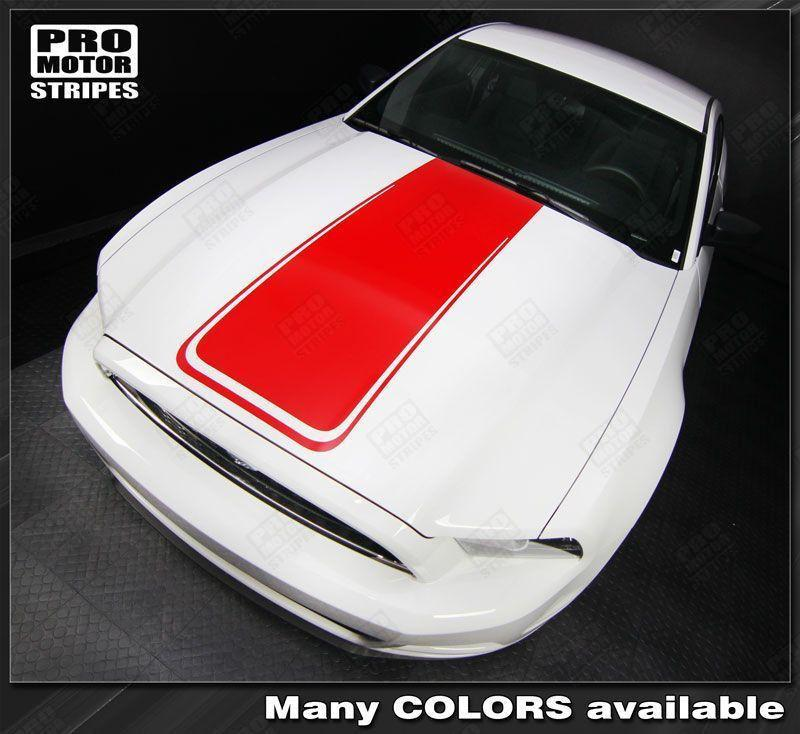 2005 2006 2007 2008 2009 2010 2011 2012 2013 2014 2015 2016 2017 Ford Mustang hood Decals Stripes 132229429438-1