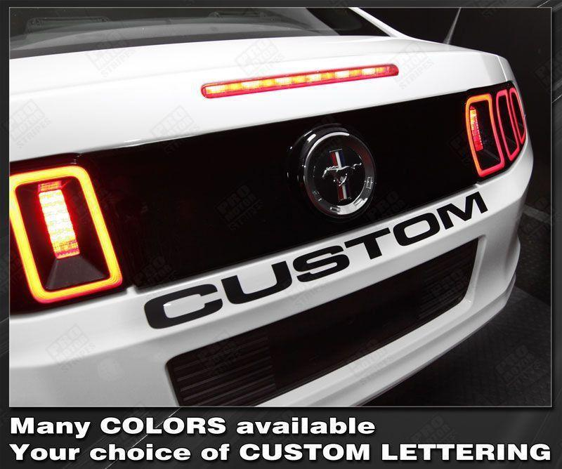 2005 2006 2007 2008 2009 2010 2011 2012 2013 2014 Ford Mustang bumper Decals Stripes 152588457614-1