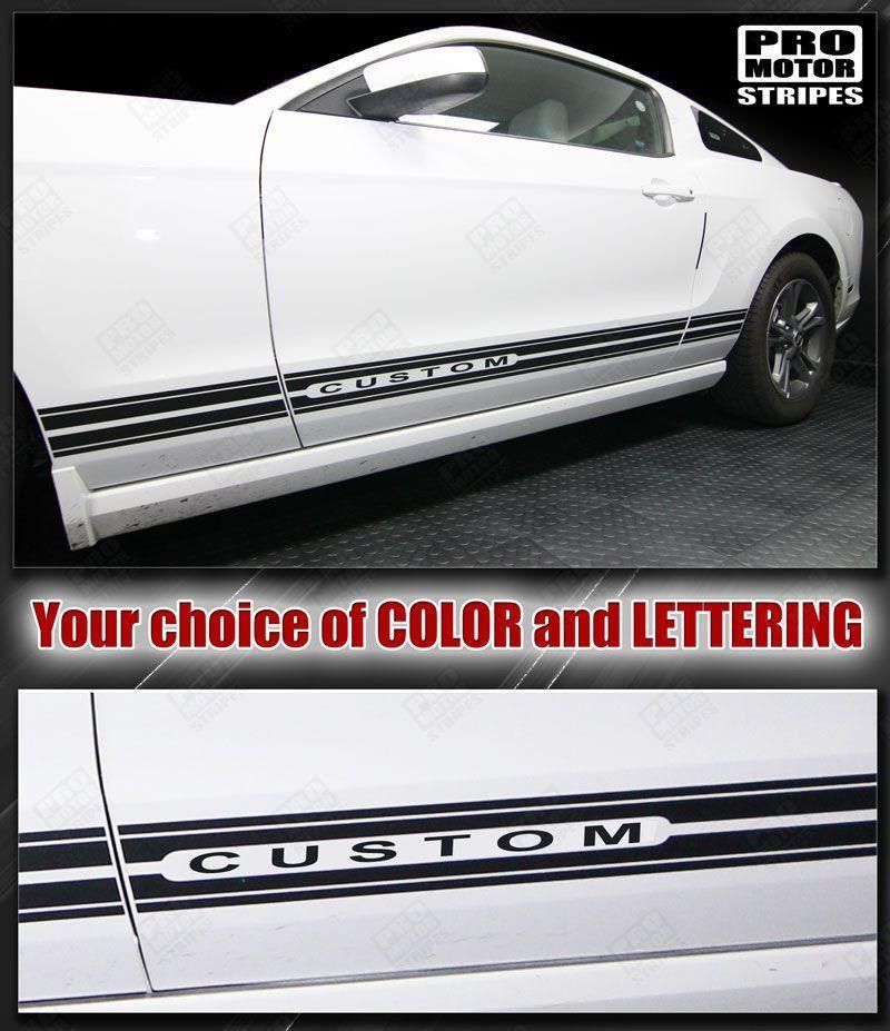 Ford Mustang 2005-2017 Rocker Panel Stripes Auto Decals - Pro Motor Stripes
