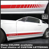 Ford Mustang 2005-2017 Rocker Panel Strobe Side Stripes Auto Decals - Pro Motor Stripes