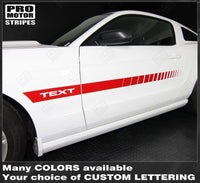 2005 2006 2007 2008 2009 2010 2011 2012 2013 2014 2015 2016 2017 2018 2019 Ford Mustang side  door Decals Stripes 122551591294-2