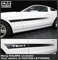 Ford Mustang 2005-2017 Side Accent Strobe Stripes Auto Decals - Pro Motor Stripes