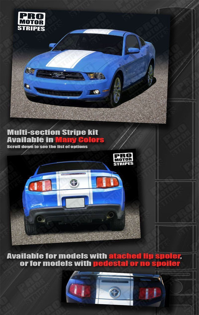 Ford Mustang 2010-2012 Pre-cut Factory Style Over-The-Top Stripes Auto Decals - Pro Motor Stripes