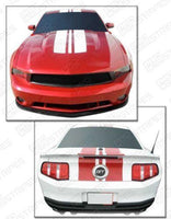 Ford Mustang 2010-2012 Pre-cut Over-The-Top Stripes RSH9 Auto Decals - Pro Motor Stripes