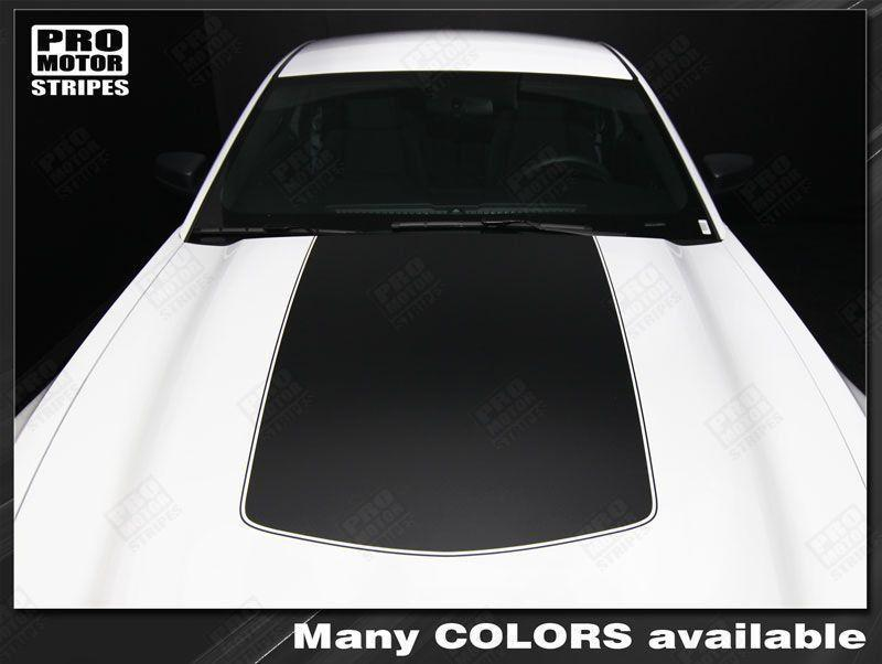 2005 2006 2007 2008 2009 2010 2011 2012 2013 2014 2015 2016 2017 Ford Mustang hood Decals Stripes 132229429442-1