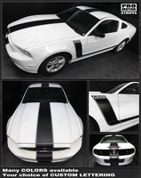 Ford Mustang 2005-2019 BOSS 302 Style Side & Top Stripes