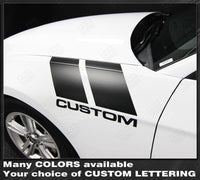 Ford Mustang 2010-2014 Fender Hash Accent Side Stripes Auto Decals - Pro Motor Stripes