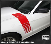 2005 2006 2007 2008 2009 2010 2011 2012 2013 2014 Ford Mustang hood  side Decals Stripes 132229430461-1