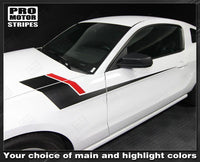 Ford Mustang 2010-2014 Fender to Side Stripes Two Color Decals Auto Decals - Pro Motor Stripes