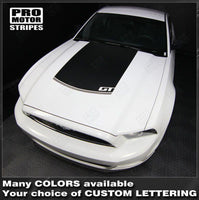 Ford Mustang 2010-2014 Hood Accent Stripe Decal Auto Decals - Pro Motor Stripes