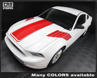 2005 2006 2007 2008 2009 2010 2011 2012 2013 2014 Ford Mustang hood  side Decals Stripes 122551586578-1