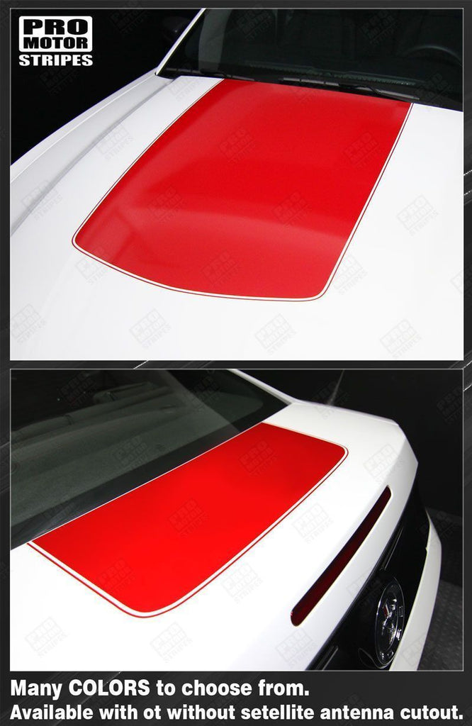 Ford Mustang 2010-2014 Hood and Trunk Stripes Auto Decals - Pro Motor Stripes