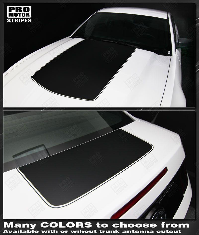 2005 2006 2007 2008 2009 2010 2011 2012 2013 2014 2015 2016 2017 Ford Mustang hood  trunk Decals Stripes 122608412255-1