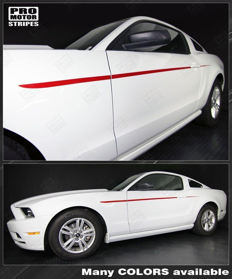 2005 2006 2007 2008 2009 2010 2011 2012 2013 2014 Ford Mustang side  door Decals Stripes 122608659126-1
