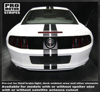 Ford Mustang 2010-2014 Over-The-Top Narrow Double Rally Stripes Auto Decals - Pro Motor Stripes