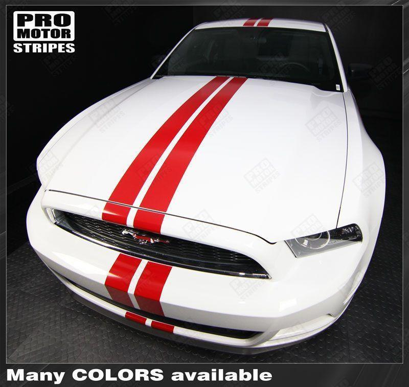 2005 2006 2007 2008 2009 2010 2011 2012 2013 2014 2015 2016 2017 Ford Mustang hood  trunk  bumper  roof Decals Stripes 122551585437-1