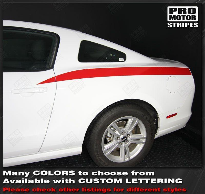 2005 2006 2007 2008 2009 2010 2011 2012 2013 2014 Ford Mustang side Decals Stripes 152588456740-1