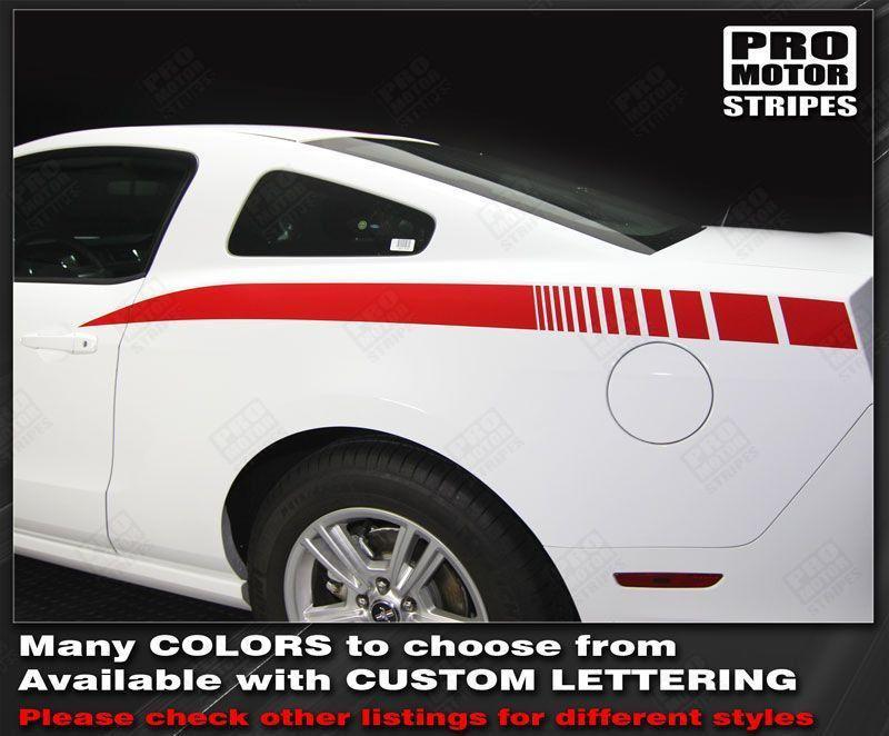 2005 2006 2007 2008 2009 2010 2011 2012 2013 2014 Ford Mustang side Decals Stripes 152588457492-1