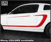 2005 2006 2007 2008 2009 2010 2011 2012 2013 2014 Ford Mustang side  door  rocker panel Decals Stripes 132229428692-3