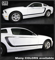 2005 2006 2007 2008 2009 2010 2011 2012 2013 2014 Ford Mustang side  door  rocker panel Decals Stripes 132229428692-1