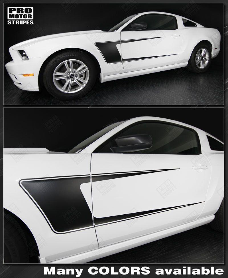 2005 2006 2007 2008 2009 2010 2011 2012 2013 2014 Ford Mustang side  door Decals Stripes 152631505939-1