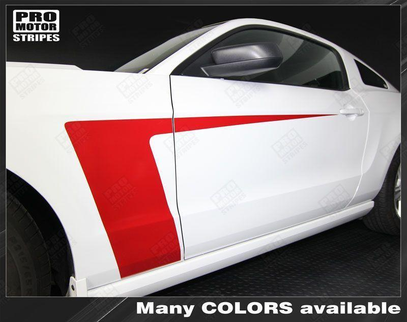 Ford Mustang 2010-2014 Side Accent Hockey Stripes Auto Decals - Pro Motor Stripes