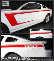Ford Mustang 2010-2014 Side Accent Strobe C-Stripes Auto Decals - Pro Motor Stripes