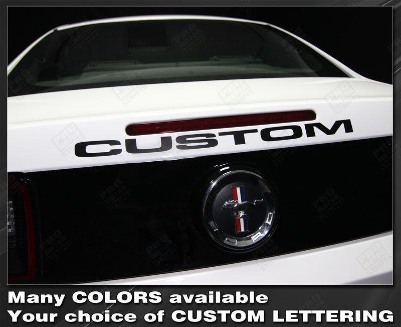2005 2006 2007 2008 2009 2010 2011 2012 2013 2014 2015 2016 2017 2018 2019 Ford Mustang trunk Decals Stripes 152644875911-1