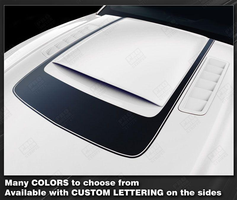 Ford Mustang 2013-2014 Accent Decal Stripe Around Hood Scoop RSH8 Auto Decals - Pro Motor Stripes