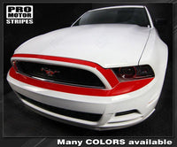 Ford Mustang 2013-2014 Front Bumper Top Overlay Highlight Stripe Auto Decals - Pro Motor Stripes