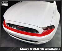 Ford Mustang 2013-2014 Front Bumper Top Overlay Highlight Stripes Auto Decals - Pro Motor Stripes