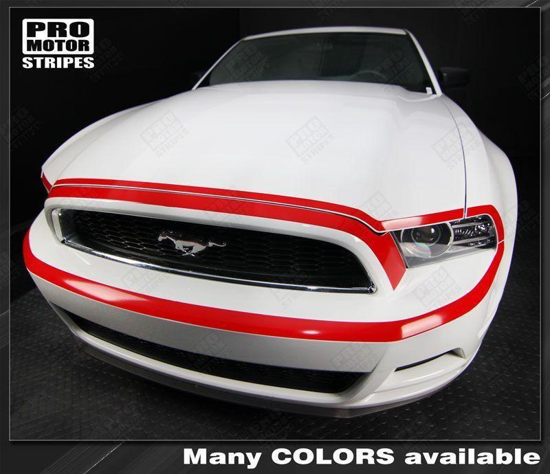 Ford Mustang 2013-2014 Front Fascia Retro Style Highlight Stripe Auto Decals - Pro Motor Stripes
