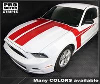 2013 2014 Ford Mustang hood  side  door Decals Stripes 122606950523-2