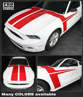 Ford Mustang 2013-2014 Hood and Side Accent Stripes Auto Decals - Pro Motor Stripes