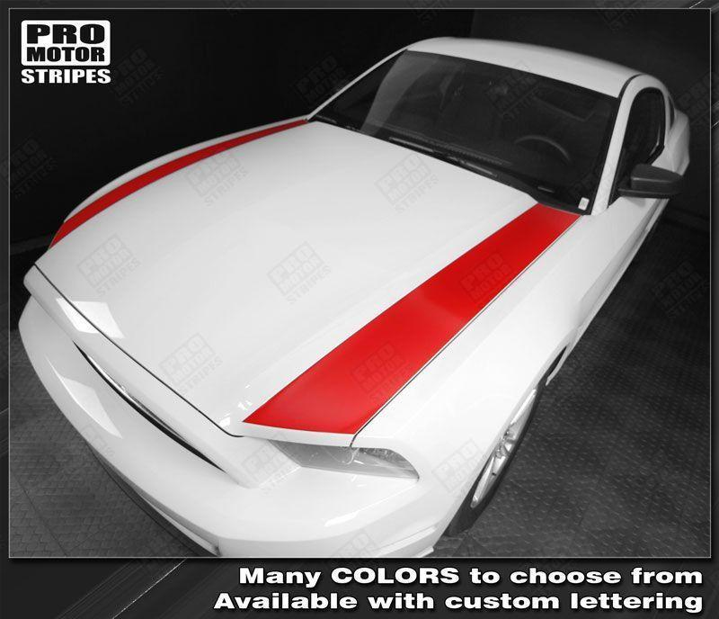 2005 2006 2007 2008 2009 2013 2014 Ford Mustang hood Decals Stripes 132268812049-1