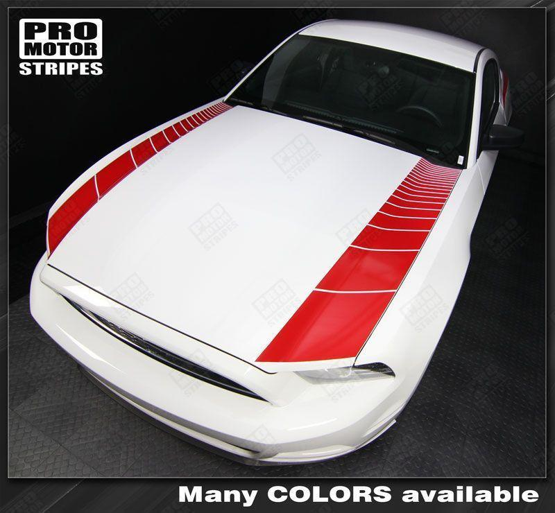 2005 2006 2007 2008 2009 2013 2014 Ford Mustang hood Decals Stripes 152588455701-1