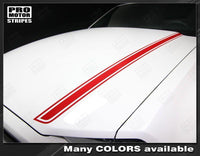 Ford Mustang 2013-2014 Hood Spear Side Accent Stripes Auto Decals - Pro Motor Stripes